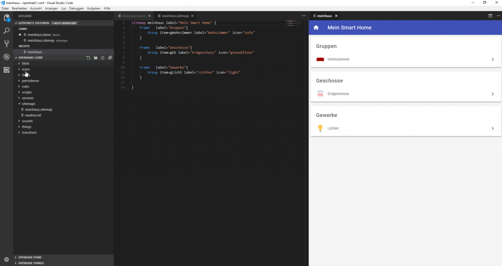 openHAB-Visual-Studio-Code-Basic-UI-2