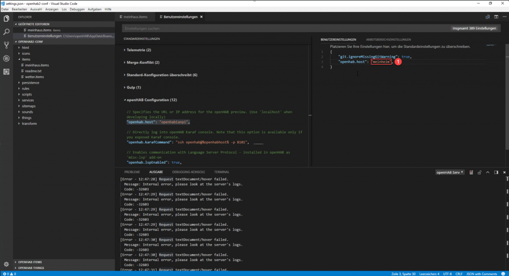openHAB-Visual-Studio-Code-Hostname-3