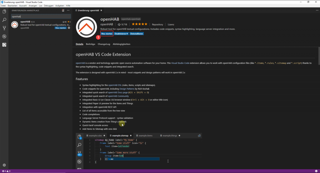openHAB-Visual-Studio-Code-openHAB-2-Extension