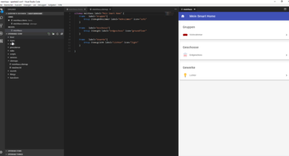 Smart Home openHAB 2 Visual Studio Code Editor